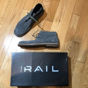 2 / $15 Grey suede lace up boot size 41